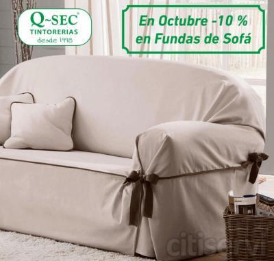 10% menos en la limpieza de las fundas de sofá de cualquier tamaño