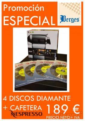 4 Discos Diamante+Cafetera Nespresso 189 € !!!