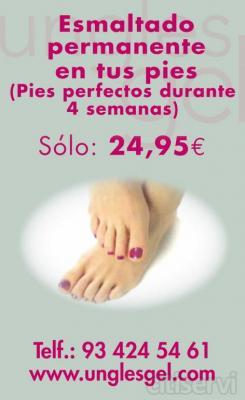 Esmaltado permanente para tus pies,solo 24,95€