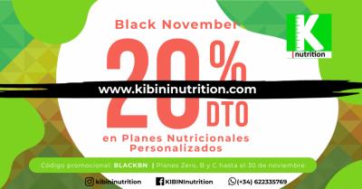 ¿Para qué esperar al 27 noviembre? Con KiBiNi|nutrition tienes durante todo el mes un 20% de descuento en los planes online ZERO, B y C. Canjea tu cupón al contratar el tratamiento en nuestra plataforma. No te pongas a dieta, lleva una alimentación increí