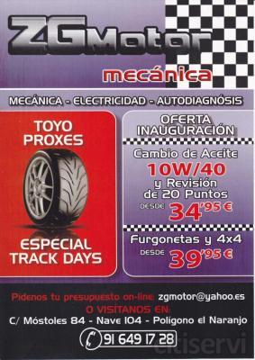 Oferta por tiempo limitado: Cambio de aceite 10w40 y revisión de 20 puntos de estado del vehículo desde 34,95€. Industriales ligeros y 4x4 desde 39,95.