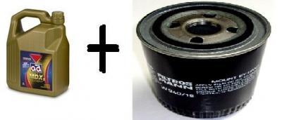 Cambio de aceite marca AD 5w40 y filtro de aceite por sólo ¡¡50€!!