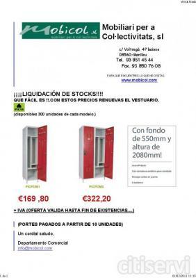 TAQ. MONOBLOC ACERO `PICAS`BOMBEROS de1 y 2 PRTA) - CUER. GRIS 7035 - PRTA. ROJA 3003