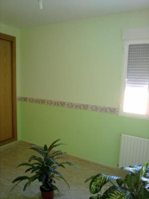 rebajada la aplicaciòn de pintura plastica lisa (blanco,color) 0,40  centimos el metro cuadrado.