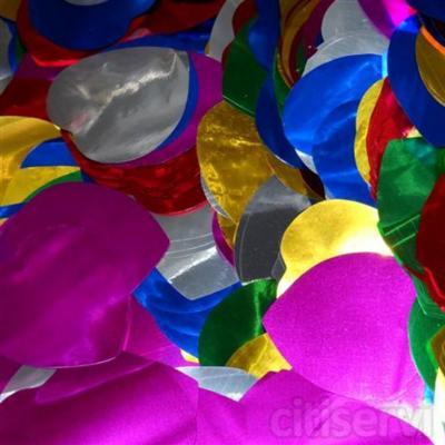 Confetti Forma Corazón Color Metalizado de 5,5cm de diámetro.