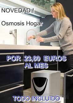 Ahora puede tener su ósmosis inversa en su casa por un mínimo precio mensual. Con mantenimiento y cambio de filtros incluido.