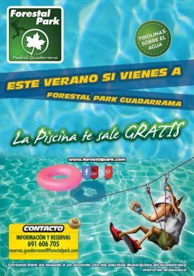 Este verano si vienes a Forestal Park Guadarrama, te regalamos la entrada para la piscina municipal de Guadarrama.
