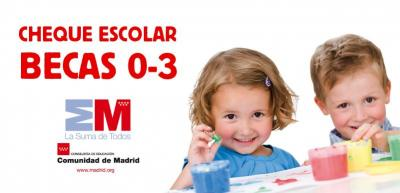 Subvención por importe anual de 1.100 € (100 € cada mes) por matricular a tu hijo de 0-3 años en una escuela infantil privada.