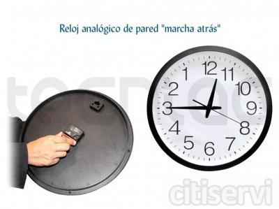 Dale un toque surrealista y extravagante a tu casa u oficina con este original reloj marcha atrás.  Si eres de los que siempre va contra reloj o si te gusta ir contra corriente, tienes que tener este reloj colgado en tu pared.  Como ves, los números