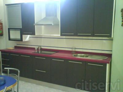 Cocina laminada 30 colores a escoger, para paño de 4 mts. lineales, desde 1200 €.