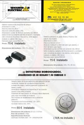 Oferta en VIGO Y alrededores de instalación de detectores de humo , gas y CO2 por un precio increible sin coste de desplazamiento.
