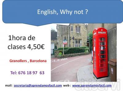 Práctica integral de Inglés ( Conversación y Gramática ) - 1 hora / 4,50€ - Granollers- Valés orienta  CURSO DE INGLÉS   ---- 1 HORA 4,50 €   Cursos regulares e intensivos  de lunes a sábados.  Tipos de cursos:  ·         De iniciaci
