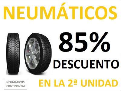 Aprovecha nuestra liquidación de stock en neumáticos. Ahora con 85% de descuento en NEUMÁTICOS CONTINENTAL. Primeras marcas. Consulta otros precios y medidas.
