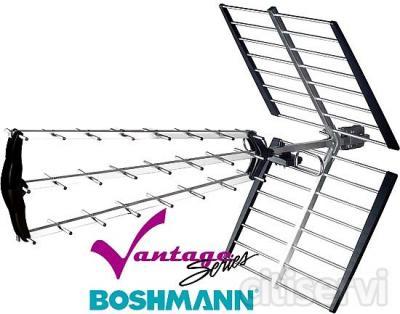 ANTRIPLEX-PLUS  Antena Boshmann Tríplex Plegable, Especial TDT, Ganancia Máxima 18 dBi