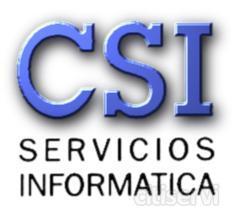 CSI SERVICIOS INFORMATICA C/ Edom nª 6 29006 Málaga Tel: 952312886 Web: http://www.infocsi.net Les ofrecemos una amplia gama de niveles de mantenimientos acorde con las necesidades de cada empresa, para que el coste se ha lo mas reducido posible, a