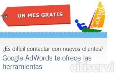Un mes gratis para empezar tu campaña de publicidad en internet    Creamos tu campaña de publicidad en AdWords de Google, el programa de publicidad que te permite promocionar tu empresa en Google. Creamos tu campaña de publicidad gratis y además te