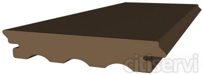 Disponibles en varios colores: Antracita, Marron, Nogal, Terracota y Beige. Medidas: 24mm x 140mm x 2400mm Acabado liso. Garantia de 10 años. FABRICACION NACIONAL. Las tarimas de exterior composite Deckplanet maciza y de grapa oculta,son sin duda, l