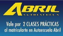 Matricúlate en Autoescuela Abril y consigue clases prácticas GRATIS:  • Carnet de Coche (Permiso B): 2 clases adicionales a las incluidas en la matrícula  • Carnet de Moto (A1 ó A2): 2 clases prácticas adicionales (1 circulación + 1 maniobras