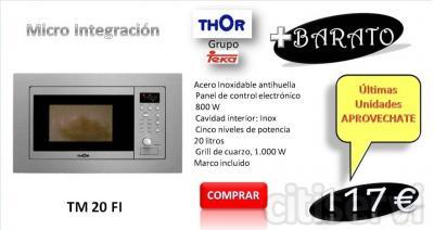 MICROONDAS THOR  TM 20 FI ACERO INOX  MARCO INCLUIDO  MAS INFO EN ; www.pccocinas.com