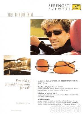 Serengeti, la mejor lente solar del mercado óptico internacional, permite una prueba gratuita de sus gafas durante 48 horas. Pásate por Montero Óptico y te informarán de todo
