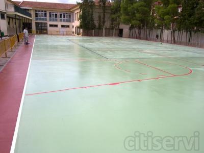 Aplicacion pintura epoxi,poliuretanos,clorocauchos,eslurris etc.. marcajes deportivos
