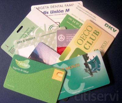 Impresión a todo color de tarjetas de pvc laminadas de 0,76 micras a doble cara.