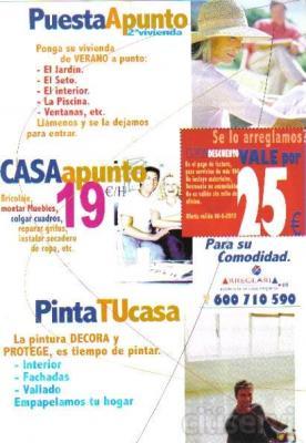 en el pago  de factura,para servicios de más de 99 €, no incluye materiales,descuento no acumulable.
