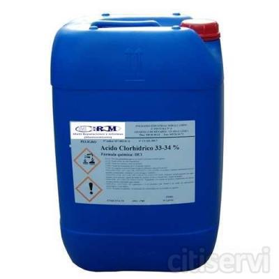 Garrafa de ácido clorhídrico para piscinas 20 l. 13,00 € + iva te lo llevamos a casa.
