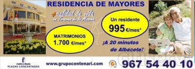 Residencia de Mayores de Tarazona de la Mancha en Albacete, ha lanzado una Oferta de Plaza Privada Residencial, bien para una persona o un matrimonio.   Esta Oferta es una respuesta a la especial situación de crisis que se está viviendo en la actualid