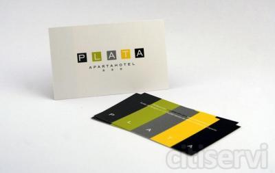 Por pedidos superiores a 250 € le regalamos 500 Tarjetas de Visita Impresas a Todo Color 4/0 en Cartulina estucada Brillo ó Mate de 350 Gramos.