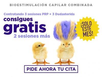 ¡Empieza el año con más pelo! BIOESTIMULACIÓN COMBINADA  3 sesiones PRP + 3 sesiones Dutasterida 2 sesiones GRATIS (1 +1)