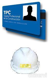 Cursos de prevención de riesgos laborales para obtención de la TPC Tarjeta Profesional de la Construcción.