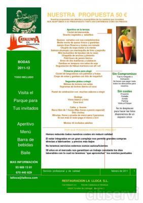 Dispomemos de un Menú especial para bodas en nuestros salones a 50 € Calidad, precio y servicio.