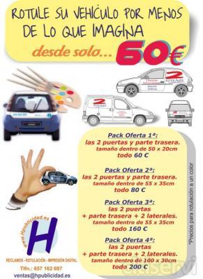 ROTULE SU VEHÍCULOS DESDE SOLO 60€