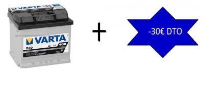 Batería de 75ah con mano de obra incluida por sólo 113€, y te regalamos un cupón de 30€ de dto. para tu próxima reparación!!!