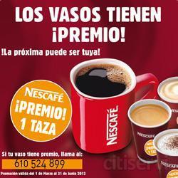A partir de este mes de marzo empezamos una nueva promoción Nestlé. En este caso se trata de la conocida taza roja de Nescafé. La promoción, como es habitual, se hará por medio de nuestras máquinas de café, con PREMIO SEGURO, a cada empresa. El p
