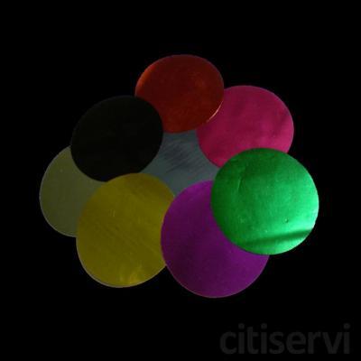 Confetti Redondo Color Metalizado 5,5cm