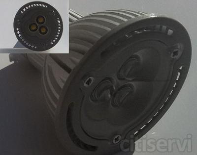 GPGU105,5 BOMBILLA DE LED DE ALTA LUMINOSIDAD DE MUY BAJO CONSUMO 5,5 WATIOS EQUIBALENTE A LOS OJOS DE BUEY DE 50 WATIOS. con el ahorro de energía con este tipo de bombilla de led sera de 10 veces menos que el ojo de buey estándar de 50 vatios y no har