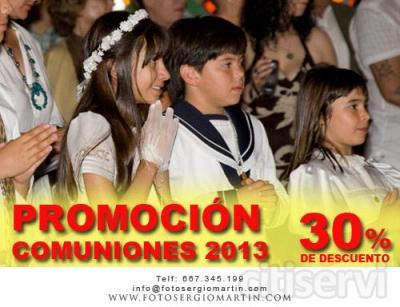 Si haces tu reserva antes del 7 de abril de 2013, tendrás un 30 % de descuento en tu reportaje fotográfico de comunión.