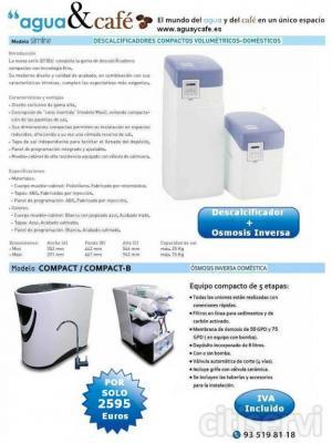 Oferta de Navidad  :   La instalación de agua de su  casa libre de cal.  Descalcificador + Osmosis   2.595 euros   (I.V.A. incluído)