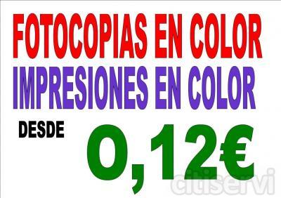FOTOCOPIAS E IMPRESIONES EN COLOR