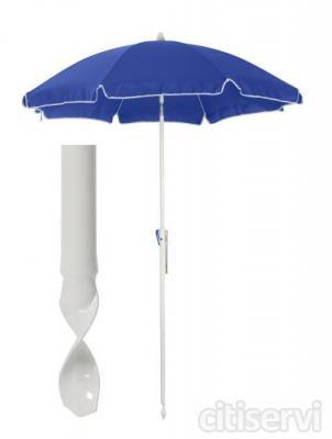 OFERTA!!!! para compras superiores a 499 € REGALO del maravilloso parasol TWIST-IN que se clava facilmente en la arena y en todo tipo de terreno, quedándose completamente fijo. Además tiene un recubrimento especial que filtra los rayos solares, brinda