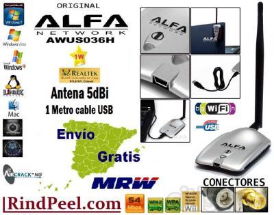Alfa NETWORK Wifi Usb 1000mW alta potencia - EL MEJOR PRECIO- ENVIO INCLUIDO