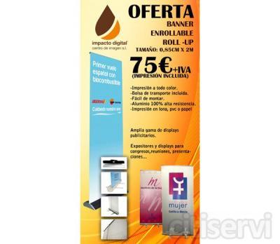 Oferta de Displays de 0,85 x 2,00 a solo 75 € * IVA