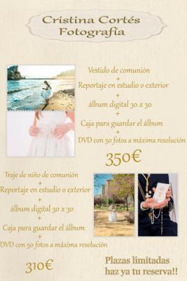 Vestido de comuninion nuevo+ reportaje fotografico+album digital o traje de marinero+ reportaje fotografico+ album digital al mejor precio