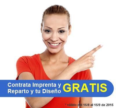 Contrata tu campaña de reparto de publicidad + imprenta y llévate el diseño de tu folleto o cartel GRATIS
