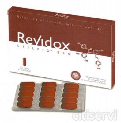 Revidox 30+15gratis, ralentiza el envejecimiento celular.